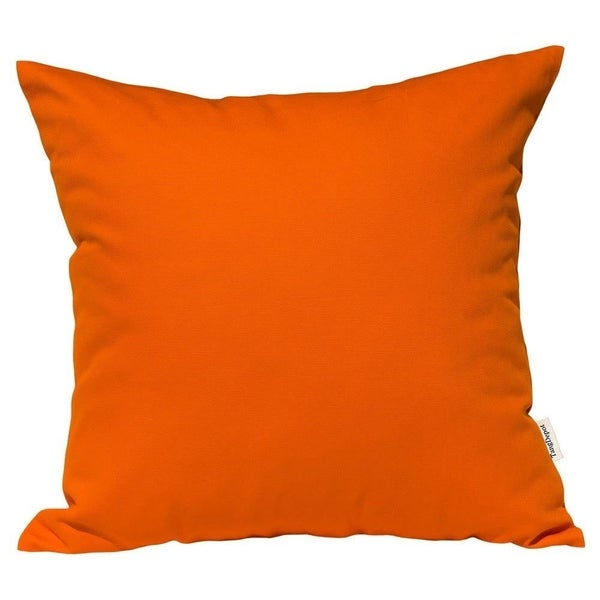 Shop Cotton Linen Pillow Case Deep Orange 18 X 18 On