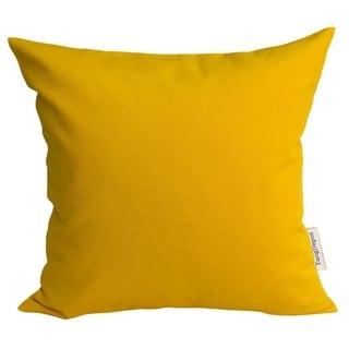 Cotton Linen Gold Yellow 18-inch Pillowcase