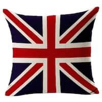 Cotton Linen Pillow Case British Union Jack 18 x 18