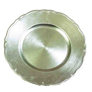 "Set of 24 Silver Charger Plates 13"" Dia"