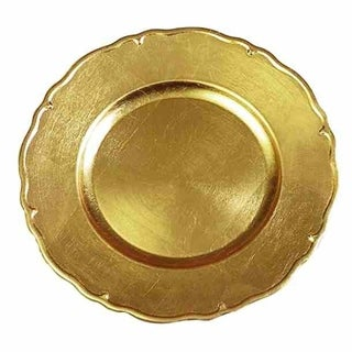 The Urban Port Gold Charger Plates Set Of 8