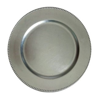 The Urban Port Silver Charger Plate Set Of 12