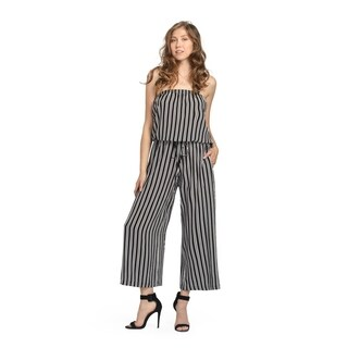 Bluberry Women's Evie Striped Midi Jumpsuit