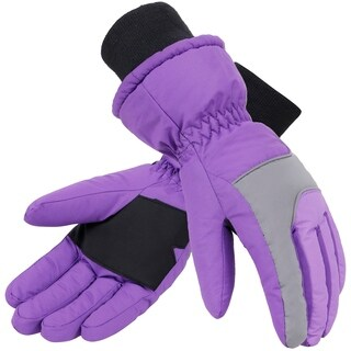 Women's Thinsulate Lined Waterproof Outdoor Ski Gloves