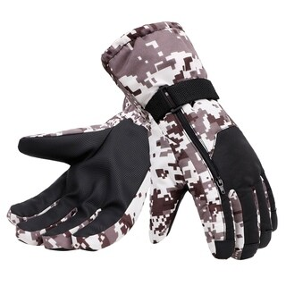 Men's Thinsulate Lined Waterproof Winter Ski Gloves