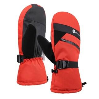 Men Cross Country Textured Touchscreen Snowboarding Ski Mitten (Option: Orange - S/M)