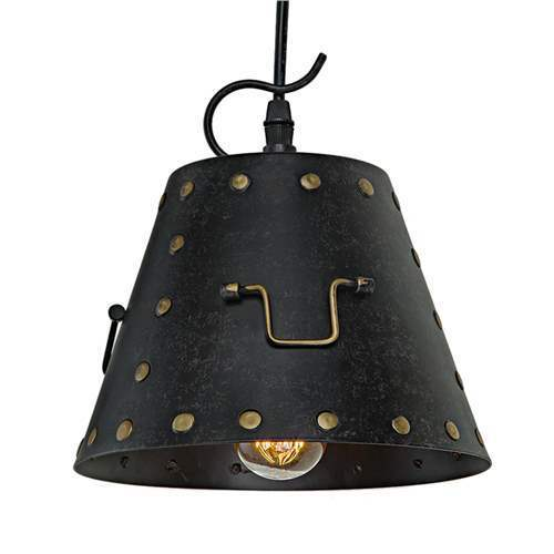 LNC Industrial Pendant Lights Rivets Pendant Lighting 1-Light Ceiling Lights