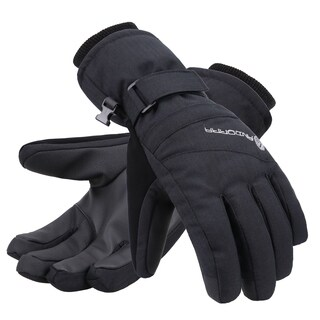 Women's Zippered Pocket Touchscreen Ski Snowboard Gloves