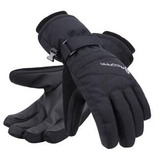 Women's Zippered Pocket Touchscreen Ski Snowboard Gloves