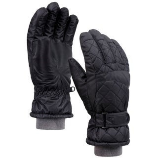 Premium Women's Waterproof Quilted Thinsulate Lined Snow Gloves