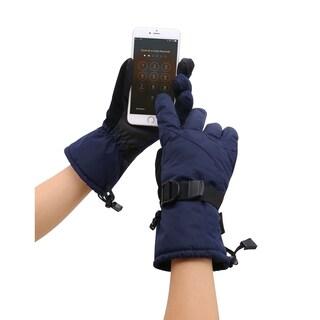 Men's Abstract Deluxe Touchscreen Sport Ski Gloves