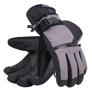 Men's Classic Touchscreen Ski Glove w/Horizontal Zippered Pocket