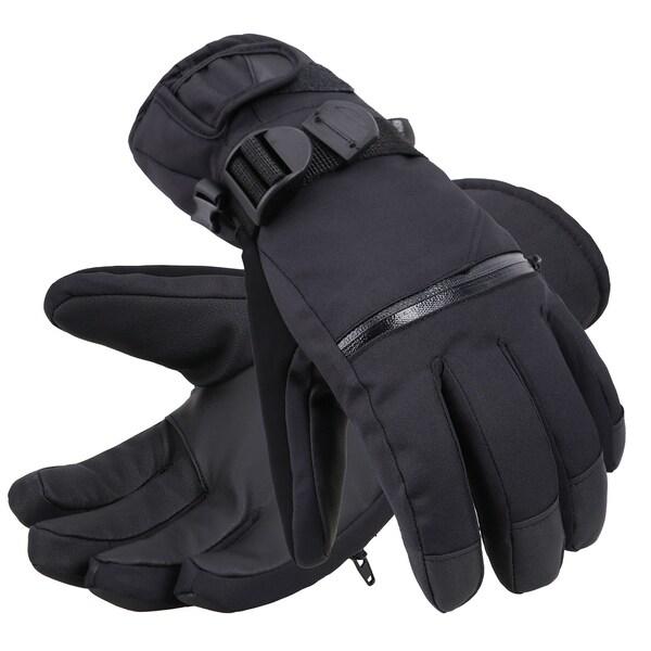 b18aba44f1b77 Men's Classic Touchscreen Ski Glove w/Horizontal Zippered Pocket