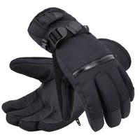 Men's Classic Touchscreen Ski Glove w/Horizontal Zippered Pocket