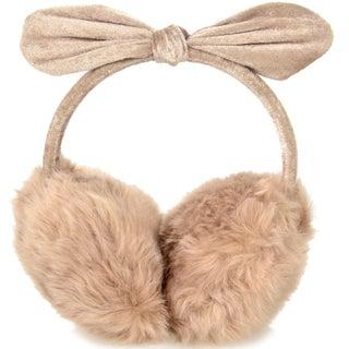 Women's Faux Fur Fleece Winter Earmuffs Ear Warmers Fleece Bow