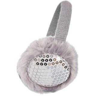 Women's Winter Knit Sequin Earmuffs Ear Warmers (Option: Grey)