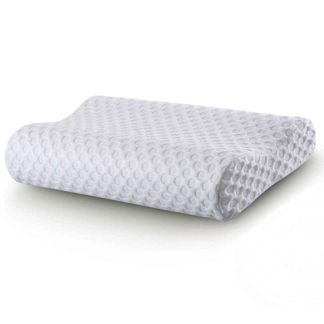 CR Sleep Memory Foam Contour Pillow for Neck Pain, Gel-in...