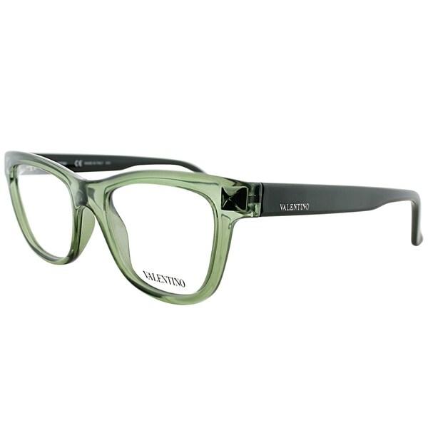 ec47c9561719 Shop Valentino Cat-Eye V2682 331 Women Army Green Frame Eyeglasses ...