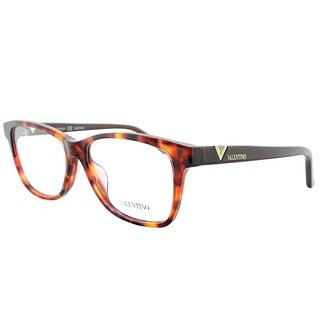 Valentino Rectangle V2674 214 Women Havana Frame Eyeglasses