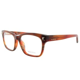 Valentino Square V2667 260 Women Striped Light Brown Matte Frame Eyeglasses