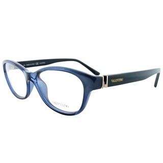 Valentino Oval V2681 242 Women Havana Black Frame Eyeglasses