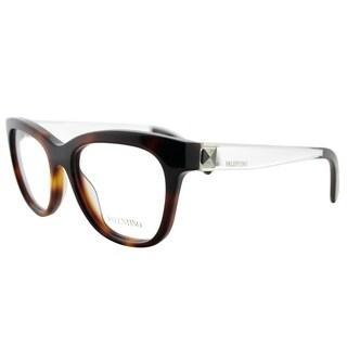 Valentino Square V2691 214 Women Havana Frame Eyeglasses