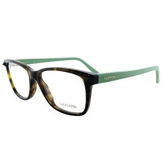 Valentino Rectangle V2694 248 Women Dark Havana Green Frame Eyeglasses