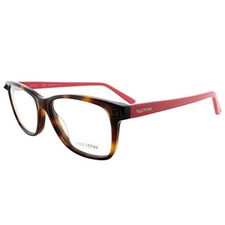 Valentino Rectangle V2694 279 Women Havana Coral Frame Eyeglasses