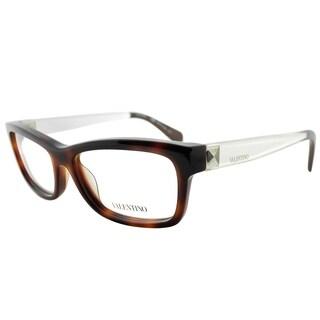 Valentino Rectangle V2693 214 Women Havana Frame Eyeglasses