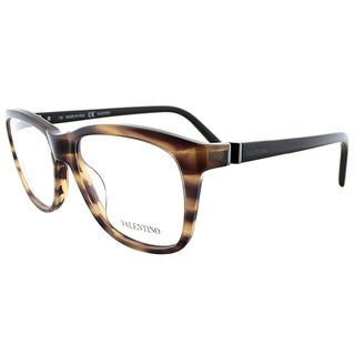 Valentino Rectangle V2632 236 Women Striped Brown Frame Eyeglasses