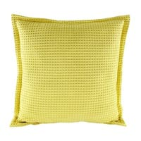 Cotton Pillow Case Solid Yellow 18 x 18
