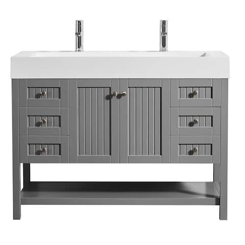 """Pavia 48"""" Single Vanity in Grey without Mirror"""