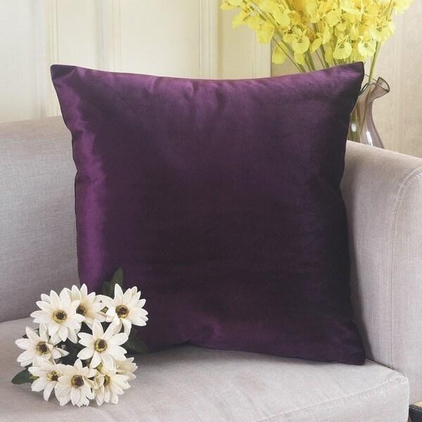 Shop Polyester Pillow Case Eggplant 18 X 18 On Sale