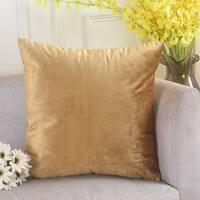 Polyester Pillow Case Gold 18 x 18