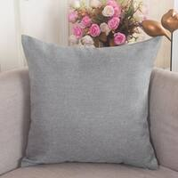 Polyester Pillow Case Light Gray 18 x 18