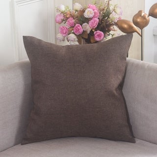 Brown Polyester 18-inch Pillowcase