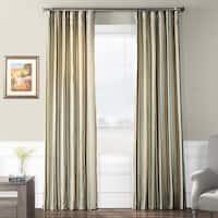 Exclusive Fabrics Woodcroft Luxury Faux Silk Stripe Curtain