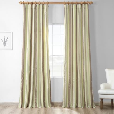 Exclusive Fabrics Cardiff Luxury Faux Silk Stripe Curtain