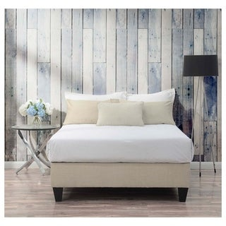 Picket House Furnishings Abby Full-size Cream/Espresso Fabric/Wood Platform Bed