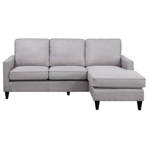 Picket House Furnishings Nori Reversible Chaise Sectional in Grey