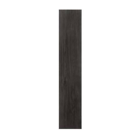 Flex Flor Looselay Vinyl Plank 9inx48in Ebony- 8 Planks/24 sq. ft.