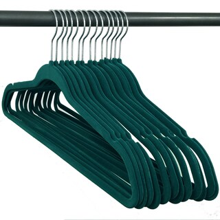 Closet Complete Velvet non slip Hangers - 50 pack Set (Option: TEAL)