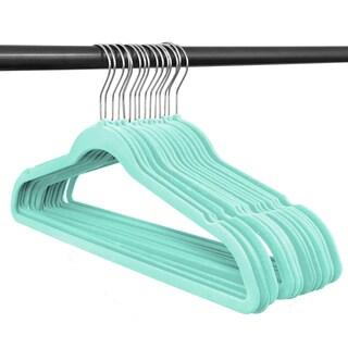 Closet Complete Velvet non slip Hangers - 50 pack Set (Option: Tiffany blue)