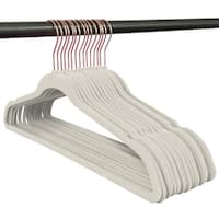 Closet Complete Velvet non slip Hangers - 50 pack Set