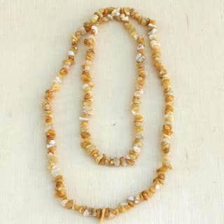 Handmade Sunny Beach Calcite Necklace (Brazil)