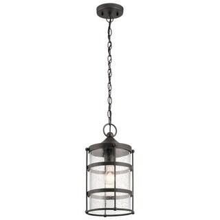 Kichler Lighting Mill Lane Collection 1-light Anvil Iron Outdoor Pendant