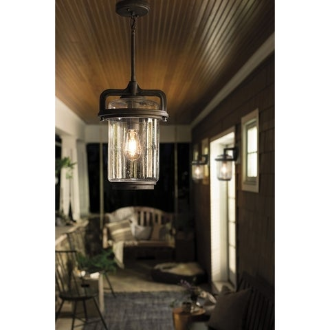 Kichler Lighting Andover Collection 1-light Weathered Zinc Outdoor Pendant