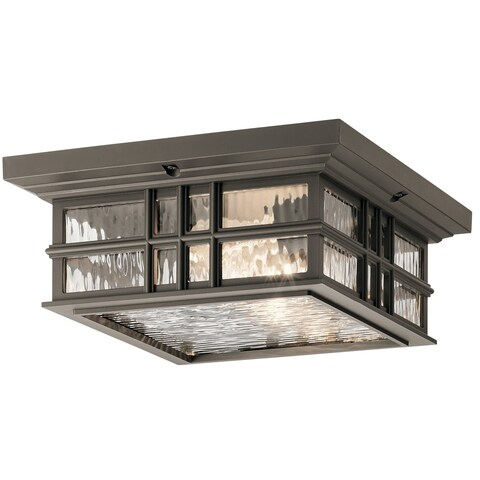 Kichler Lighting Beacon Square Collection 2-light Olde Bronze Outdoor Flush Mount