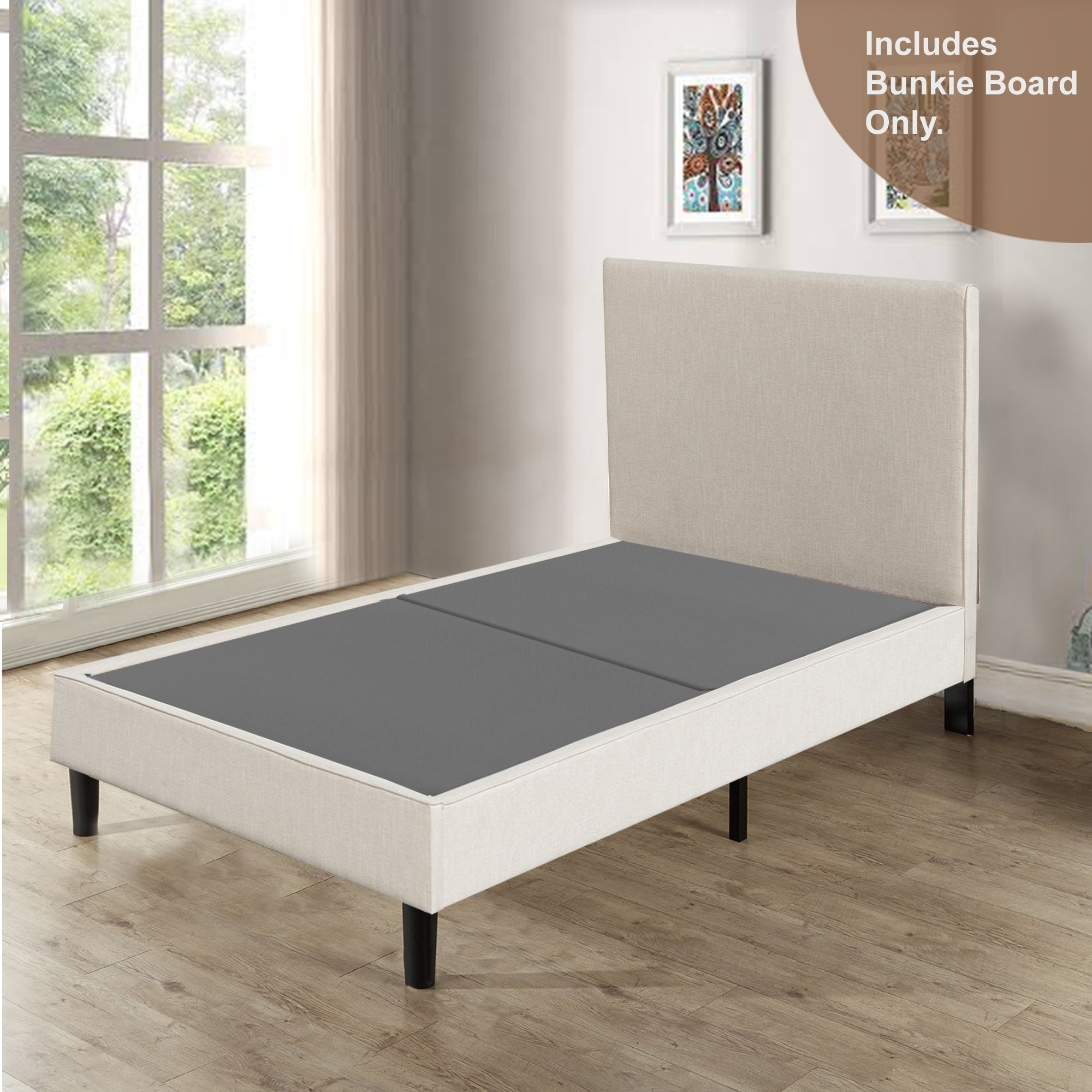 1.5-inch Fully Assembled Foundation Bunkie Board Continental Mattress King ...