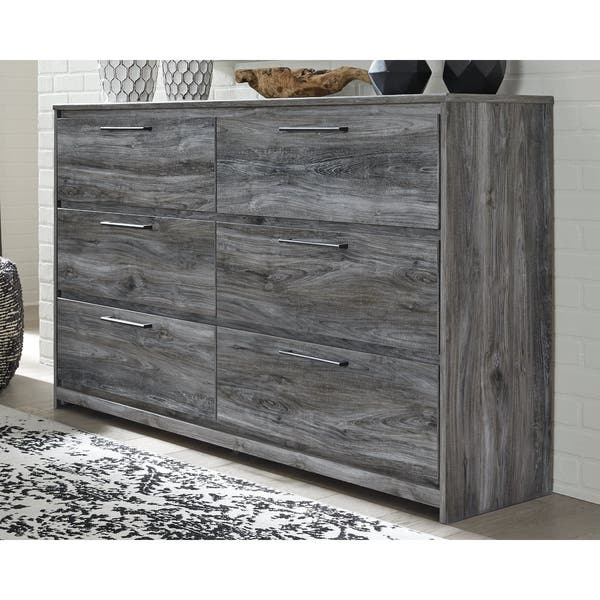 Baystorm Grey Wood 6 Drawer Dresser